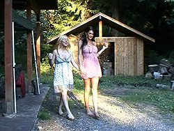 Morgan and juliette. Excited tgirls Morgan and Juliette blowing