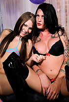 Morgan and ashley balloons. Hot and lustful Morgan Bailey playing with Ashley George