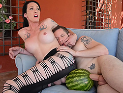 Morgan s servant. Hot Morgan plays with her servant